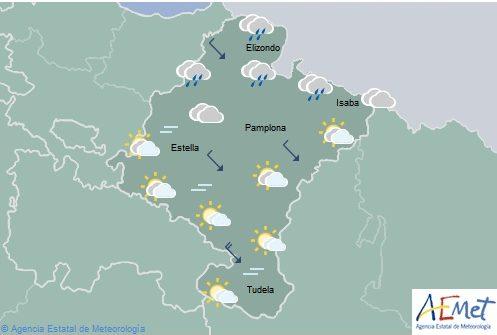 En Navarra precipitaciones en el noroeste y nieve en el Pirineo
