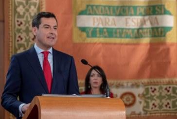 Moreno reivindica el «poder» de Andalucía, que no será «sumisa y silenciosa»