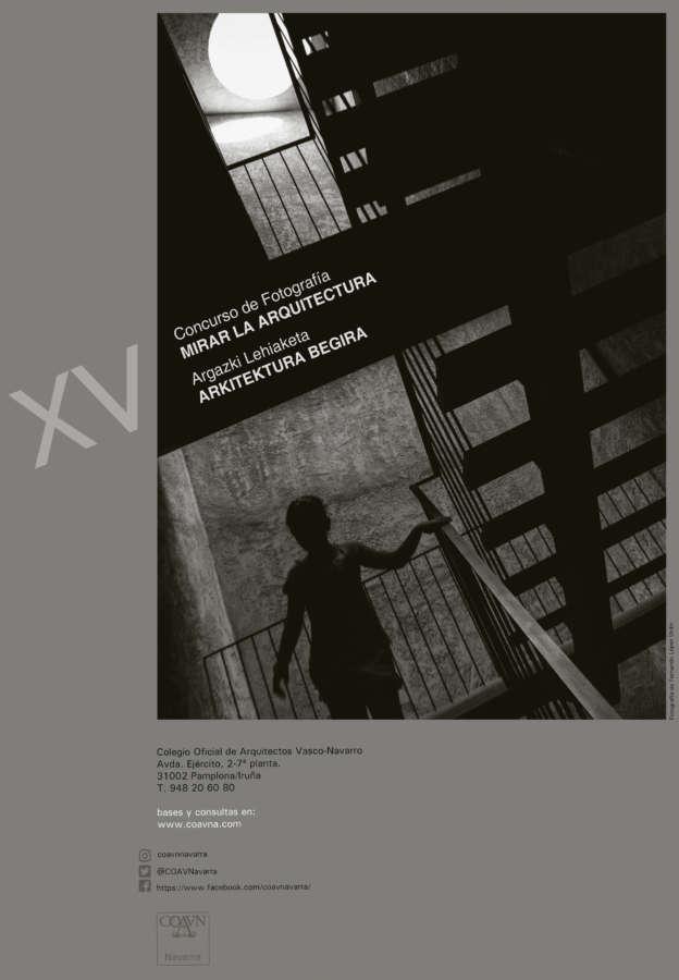 COAVNA convoca el XV Concurso Mirar la Arquitectura sobre fotografía urbana en Navarra