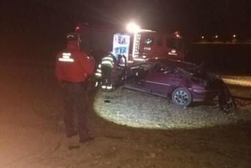 Dos heridos, uno grave, en una salida de vía en Legaria