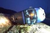 Tres heridos al salirse de la vía un autobús escolar a la altura de Ibiricu