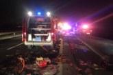 Dos heridos en un accidente en Esquíroz al chocar un coche y un camión