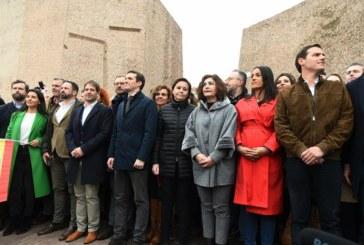 """La manifestación contra la """"traición"""" de Sánchez abre la campaña electoral"""