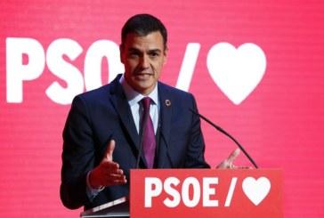 Sánchez apela a lograr una mayoría que frene a las tres siglas de la derecha