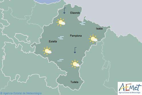 En Navarra poco nuboso con aumento de temperaturas en el noroeste, riesgo de aludes entre 2 y 3