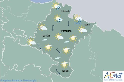 En Navarra intervalos de nubes altas y medias, temperaturas en ligero descenso