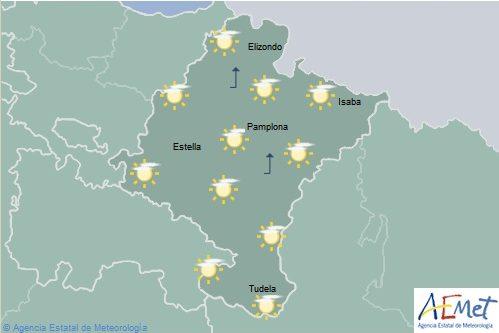 En Navarra intervalos nubosos con temperaturas máximas sin cambios