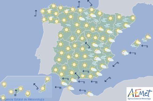 Hoy en España, viento fuerte del sur en Canarias y levante fuerte en el Estrecho