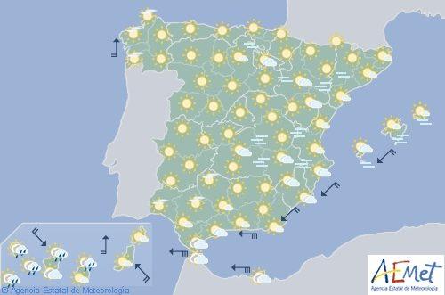 Hoy en España, viento de levante fuerte en el Estrecho y sur en Canarias