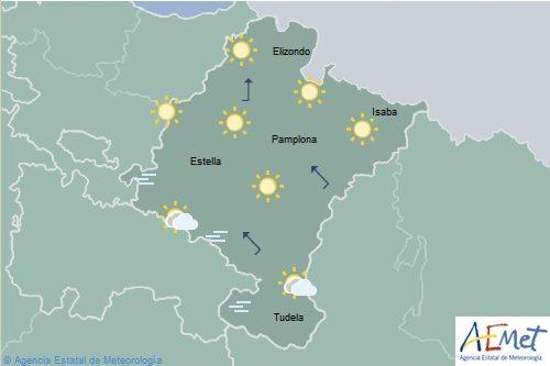En Navarra cielo despejado con intervalos de nubes bajas