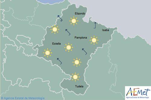 Viento intenso en Navarra con rachas fuertes en el Pirineo