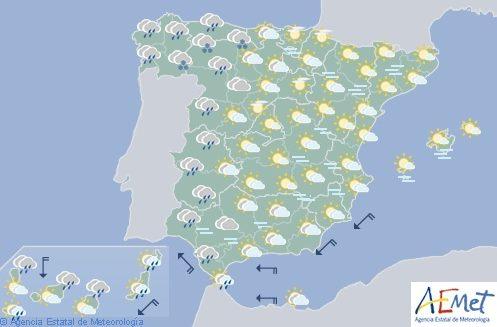 Hoy en España, nieve a partir de 1000 metros en el noroeste y lluvia intensa en Galicia