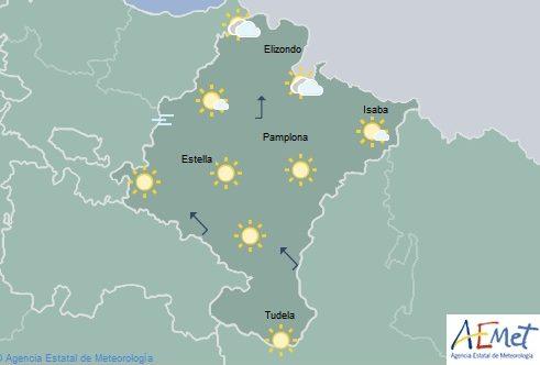 En Navarra cielo poco nuboso, temperaturas con pocos cambios