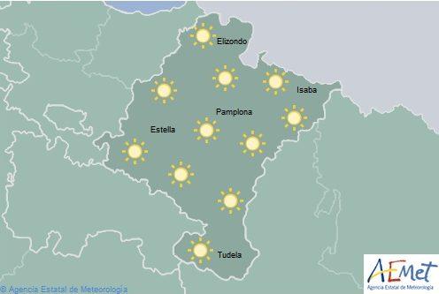 En Navarra cielo despejado con temperaturas máximas en ascenso