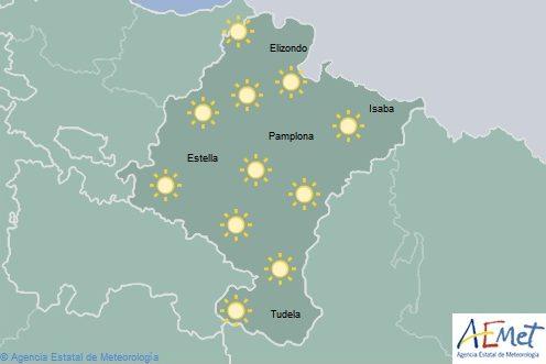 En Navarra temperaturas en ascenso y cielo despejado