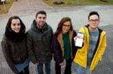 Cuatro estudiantes de la UPNA diseñan una App sobre lugares para practicar escalada en Navarra