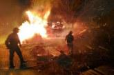 Un incendio, ya sofocado, ha obligado a cortar la N-121-A (Pamplona-Behobia)