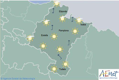 En Navarra temperaturas máximas en aumento, notable en la Ribera