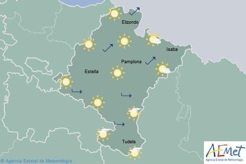 En Navarra poco nuboso o despejado con temperaturas en descenso