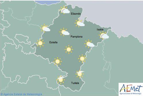 En Navarra temperaturas máximas en aumento más acusado en norte y oeste