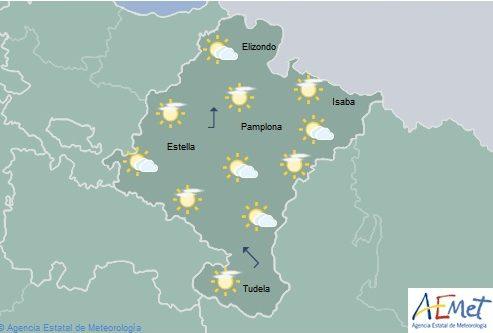 En Navarra temperaturas máximas en ascenso, notable en el oeste y norte