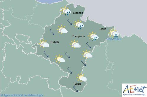 Precipitaciones generalizadas en el tercio norte de Navarra