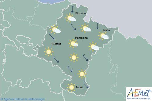 En Navarra ascenso de las temperaturas máximas, especialmente en la Ribera del Ebro