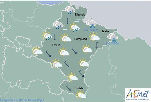 Cubierto en el norte de Navarra, temperaturas sin cambios significativos
