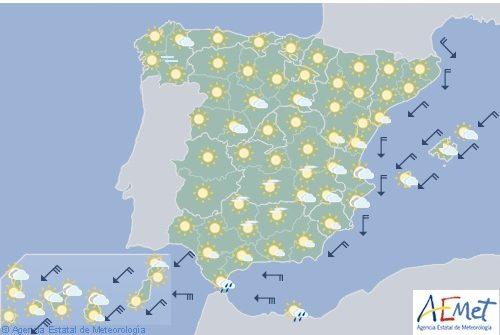 Hoy en España viento fuerte en Canarias occidentales y en el Estrecho