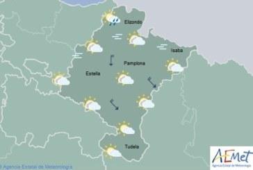 En Navarra temperaturas máximas en notable descenso