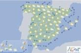 Hoy en España levante fuerte en el Estrecho y litorales de Alborán con precipitaciones en Canarias