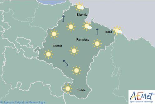 Temperaturas mínimas en notable ascenso en el noroeste de Navarra
