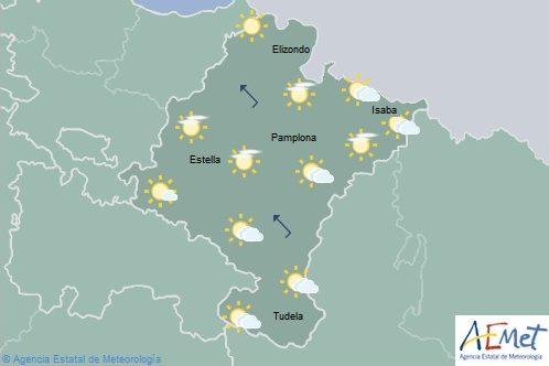 En Navarra nubosidad de evolución, probabilidad de chubascos ocasionales