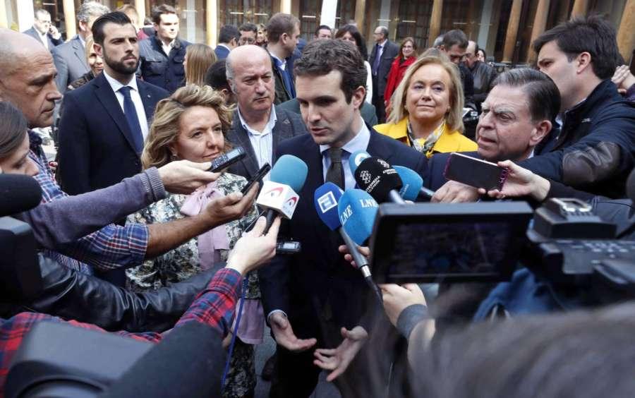 28-A: Casado afirma que la demagogia de Sánchez acaba en las «colas del INEM»