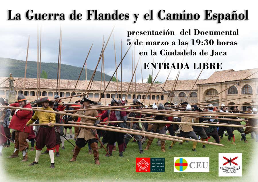"""AGENDA: 5 de marzo, en Ciudadela de Jaca (Huesca), documental """"La Guerra de Flandes y el Camino Español"""""""