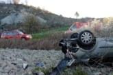 Un herido grave en un accidente de tráfico en la NA-150 a la altura de Aós
