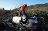 Un herido grave en un accidente de tráfico en la NA-150, en Lónguida