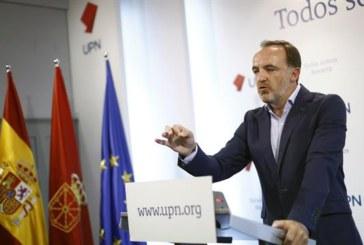 """Esparza (UPN): """"El único muro para el desarrollo de Navarra es el nacionalismo y el populismo con los que quiere pactar el PSN"""""""