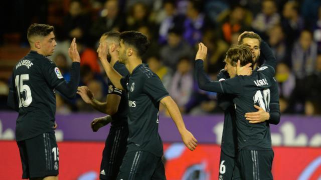 El Real Madrid reacciona en Pucela (1-4)
