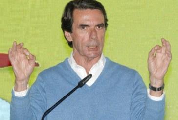 28-A: Aznar pide «no votar con las tripas» ante un PSOE «no constitucionalista»