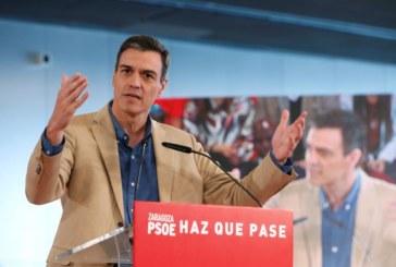 28-A: Sánchez dice que el PSOE es el único partido que puede sumar más que las tres derechas