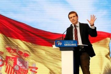 28-A: Casado dice que Sánchez está «en modo avión» y «le importa un bledo» España