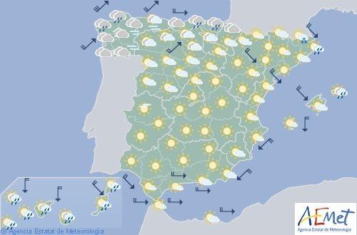 Hoy en España nevadas en zonas altas del noroeste con posibles chubascos en Canarias