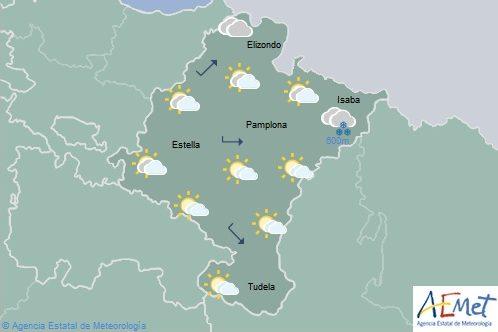 Cielo aumentando a nuboso en Navarra con temperaturas máximas en aumento