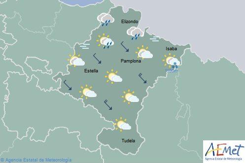 En Navarra precipitaciones en el norte, temperaturas con pocos cambios