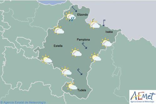 En Navarra intervalos nubosos con temperaturas máximas en aumento, ligero en el noroeste