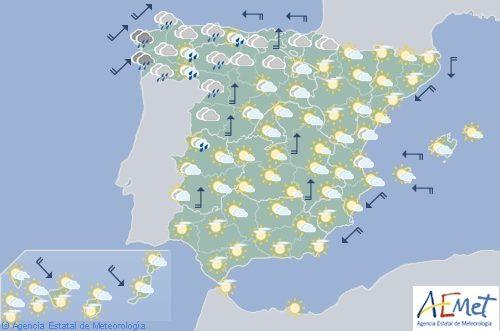 La semana en España se inicia lluviosa en Galicia, Cantábrico y la mitad norte