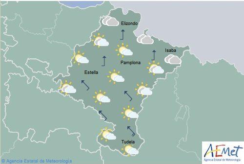 Lluvias generalizadas por la tarde en Navarra, temperaturas máximas en aumento