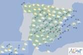 Hoy en España, precipitaciones fuertes en el sureste y viento fuerte en área mediterránea