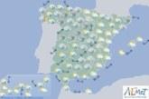 Hoy en España, intervalos de viento fuerte en el sudeste, lluvias en la vertiente atlántica y cantábrica